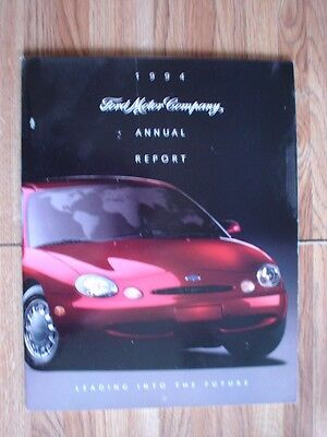 Ford Motor Company 1994 Annual Report Book To Shareholders