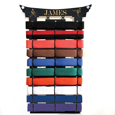 10 personalised martial arts belts holder rack display karate birthday taekwondo