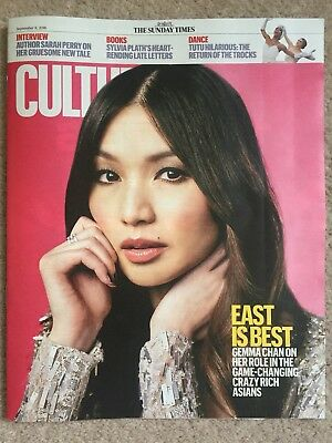 SUNDAY TIMES CULTURE MAG NEW GEMMA CHAN COVER 9th SEPT 2018 CRAZY RICH ASIANS