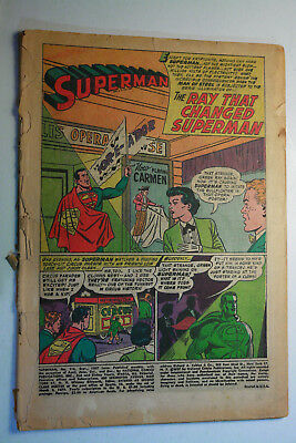 Superman #116 No. 116 1957 Pr Coverless Complete Copy Silver Age Dc Comic Book