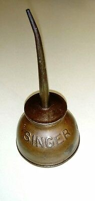 Vintage/Antique late 19th early 20th century Singer sewing machine oil can RARE!