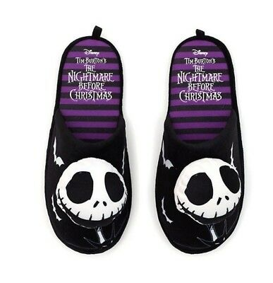 Disney Nightmare Before Christmas Jack Skellington Slippers Mens Large 10/11 New