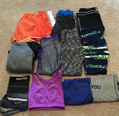 Womens Size Xsmall Athletic Lot Of 12 Items - Nike Under Armour Puma Fila Etc!