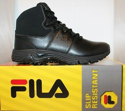 a109d30a MENS FILA MEMORY Breach Slip Resistant STEEL TOE Work Boots Shoes ...