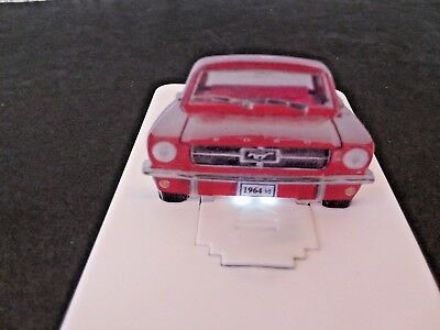 1964 1/2 Ford Mustang Dealership Promo Business Card Size Handout Item w/lights