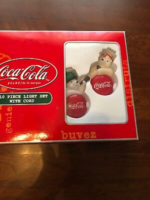 Coka Cola 10 Piece Light Set With Cord Nib