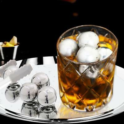 4Pc Stainless Steel Metal Ice Cubes Whiskey Stones Beverage Cooler Drink Chiller