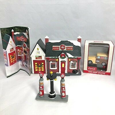 """Coca-Cola Town Square Collection ~ Flying """"A"""" Gas Station ~ WKOK Radio Car"""