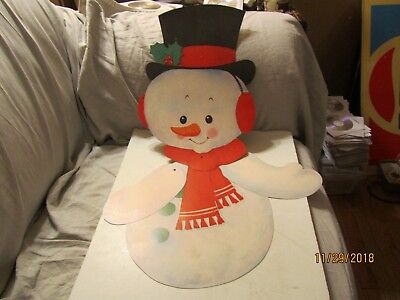 Large Christmas Jointed Snowman Die Cut Out