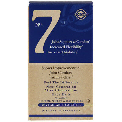 Solgar No. 7 Joint Support & Comfort - 30 Vegetable Capsules