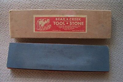 Vintage BEAR CREEK Combination Knife Tool Sharpening Stone Hone Fine or Coarse