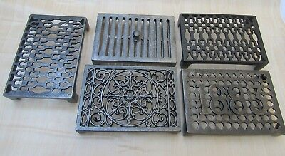 Cast Iron Old Vintage Rustic Repro Air Vent Brick Grille Cover