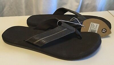 6a1cfed7c4eb NWT Flojos Nice Brown Leather Sandals Flip Flops W Arch Support Men s Sz 11  NEW