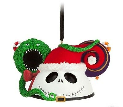 Disney Parks Sandy Claws Jack Skellington Mickey Mouse Ears Christmas Decoration
