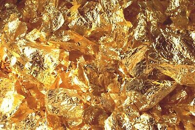 20 Grams Gold Leaf Flakes 100% Satisfaction Or Your Money Back Free Shipping