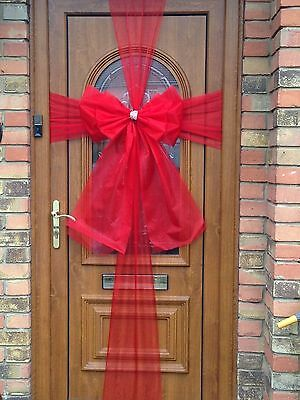 Luxury Double Door Bow Kit RED Christmas Celebration SPECIAL OFFER With Lights