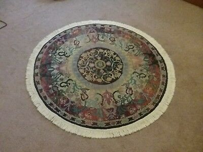 5 Ft Round Area Rug Gabbeh Collection Made In Egypt 5000 Picclick