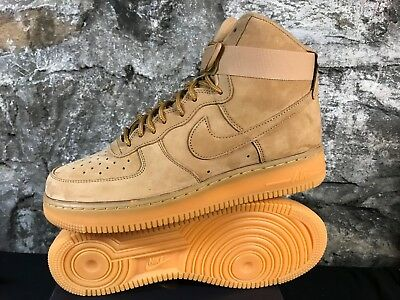 new products fb797 9aea5 NIKE AF1 FLAX High 882096-200 07 LV8 WB AIR FORCE 1 GUM WHEAT MEN'S 2018 NEW