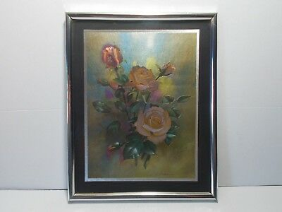 """8-1/4"""" x 10-1/4"""" Matted Shiny Rose Wall Art Picture"""
