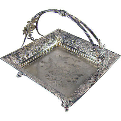 Signed Pairpoint Silver Plated Handled Fruit Basket