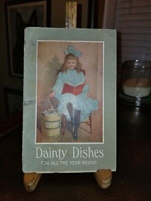 Vintage 1906 Dainty Dishes Ice Cream Maker Recipe Booklet