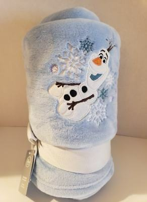 Disney Store Authentic OLAF Embroidered Fleece Blanket Throw, New with Tag