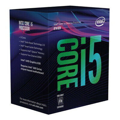 Intel Core i5-8400 2.8Ghz s1151 Coffee Lake 8th Generation Boxed 3 Years Warr...