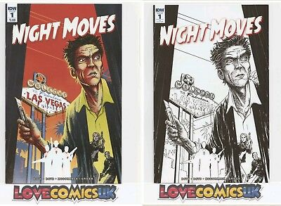 Night Moves #1 1St Print & 1 For 10 Variant Idw Comics