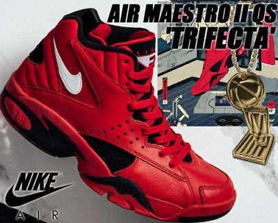 buy popular 7680d 63708 Nike Air Maestro II QS AJ9281 600 University Red  black Men s Basketball  shoes