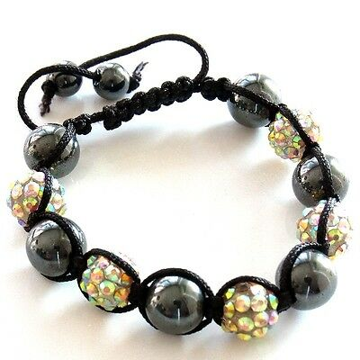 Multicolore Shamballa Bracciale Power Perline Sfere Donna Uomo