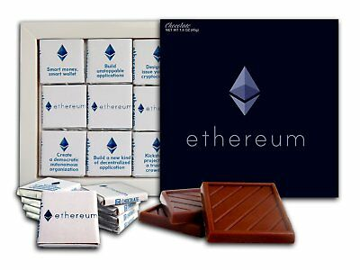 Souvenir ETHEREUM Chocolate Gift Set Cryptocurrency design 5x5in 1 box