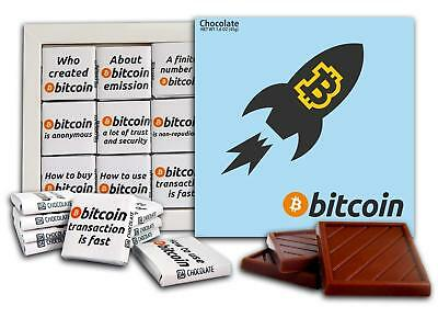Souvenir BITCOIN Chocolate Gift Set Cryptocurrency design 5x5in 1 box