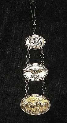 1904 St. Louis Exposition Palace Of Liberal Arts Watch FOB