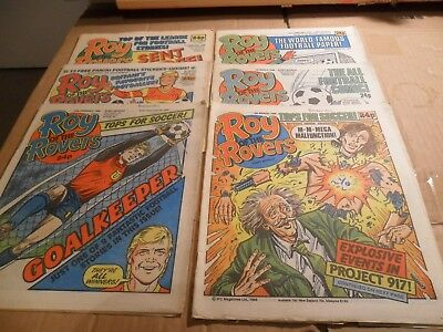 Roy Of The Rovers Job Lot Of Comics 6 ISSUES 1/02/86 - 8/03/86 LOT 1