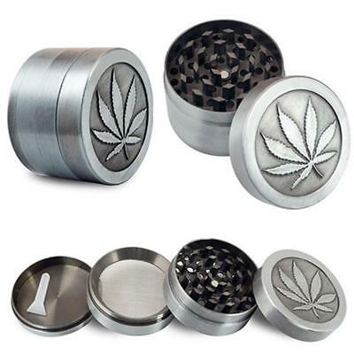 1pc 4 layer Herb Grinder Spice Tobacco/Weed Smoke Zinc Alloy Crusher Leaf Design