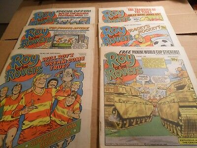 Roy Of The Rovers Job Lot Of Comics 6 ISSUES 26/04/86 - 31/05/86 LOT 3
