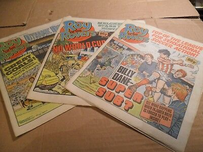 Roy Of The Rovers Job Lot Of Comics 6 ISSUES 21/06/86 - 07/06/86 LOT 4