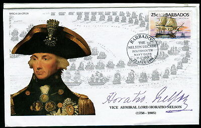 1996 Barbados Nelson Decade Porstmouth Navy Days pm cover. HMS Victory Ship