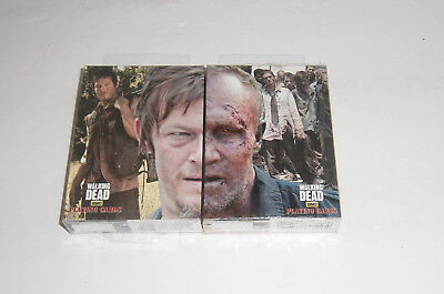 NEW SEALED The Walking Dead Playing Cards Double Deck Daryl & Zombie Murrell