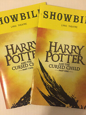 Harry Potter And The Cursed 1& 2 Child Playbill Book New York Broadway Oct 2018