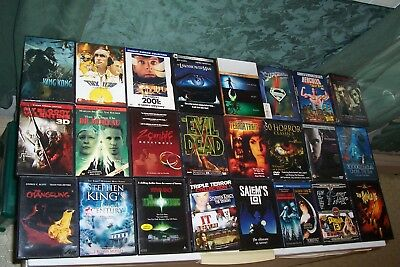 Dvd Lot,stephen King,elm Street,asteroid 1998,psycho,hammer Films,aussie Horror.