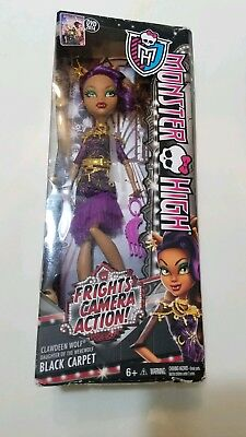 Monster High 2014 Clawdeen Wolf Frights Camera Action Doll Black Capet