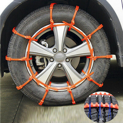10Pcs Anti-skid Chains for Car Snow Muddy Wheel Tyre Thickened Tire Cable Tie