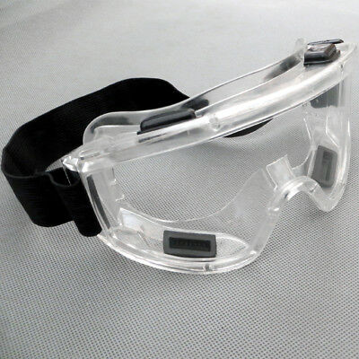 1pcs Dust-proof Clear Lens Protective Safety Glasses Eye Protection Goggles Lab