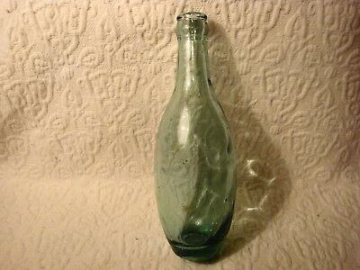 Vintage Green Glass Soda Pop Bottle #2328