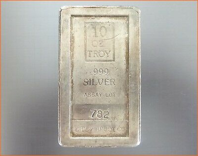 10 oz .999 Silver USVI INGOT CO. A MARK Art Bar 2104