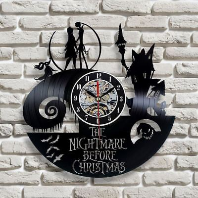 The Nightmare Before Christmas Vinyl Record Wall Clock