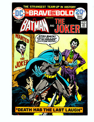 BRAVE AND THE BOLD #111 in VF/NM 1974 DC Silver Age comic w/ BATMAN & THE JOKER