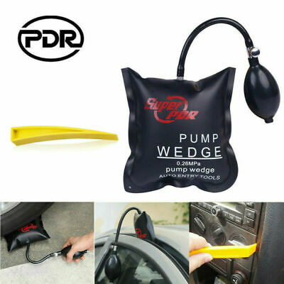 2xCar Air Pump Wedge Inflatable Door Window Shim Auto Hand Tool Dent Removal Kit