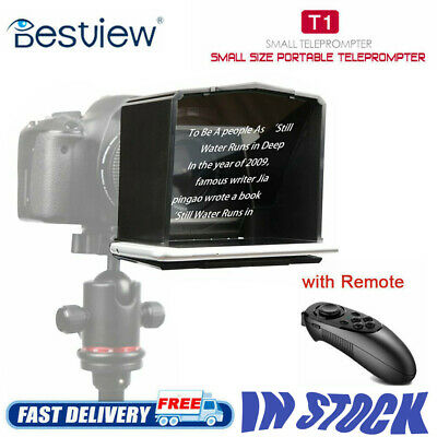 Smart Phone Teleprompter with 8 Lens Adapter Rings Kit with Remote for TV show B